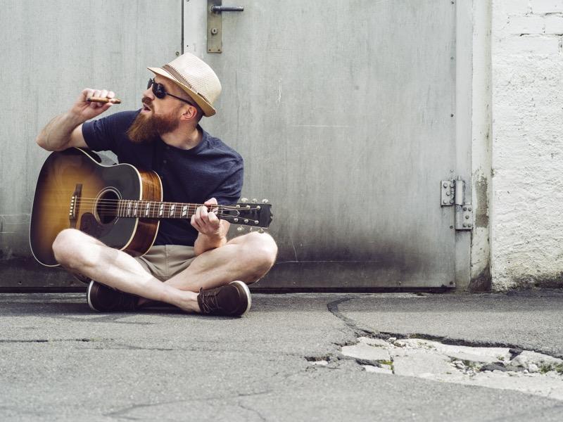 アコースティックギターのストローク
